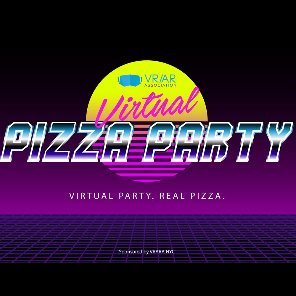 View the VRARA virtual pizza party flyer